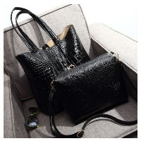 Crocodile embossed silver tide woman bag 2015 new handbag shoulder hand Europe and simple fashion...