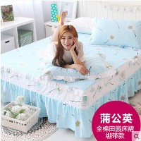 Spring and summer cotton bedspread bed skirt Korean lace fabric bed linens more color New Mikasa