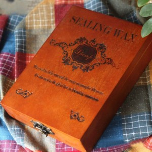 Home 1Pcs Vintage Customized Stamp With Gift Box Retro Style Wax Seal Wooden Deluxe Gift H0531