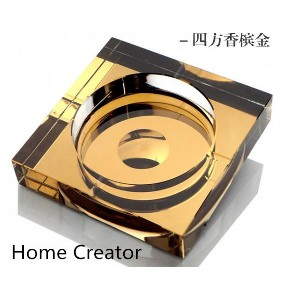 High-grade crystal ashtray fashion boutique creative crystal glass customized corporate gifts for...