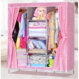 Suo Ernuo simple cloth wardrobe thick non-woven cloth wardrobe large reinforcement steel combination...
