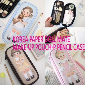 [Afrocat][Made In Korea] Korea Best Brand AFROCAT Paper Roll Mate Make-up Pouch P Cosmetic Pencil...