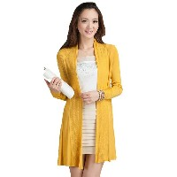 Long Solid Color Long Sleeve Loose Cardigan