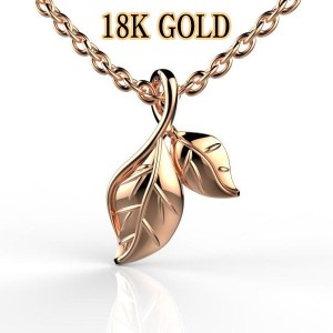 necklace SOLID GOLD~Platinum PLATE