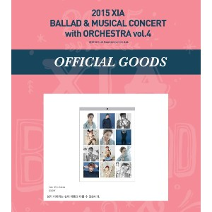 JYJ 2015 XIA BALLAD MUSICAL CONCERT with ORCHESTRA vol.4 公式グッズ 壁掛けカレンダー WALL CALENDAR 2016