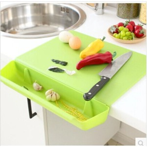 Creative antibacterial kitchen cutting board with a chopping vegetables groove environmental candy...
