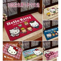 Foreign trade HELLO KITTY cute toilet door mats non-slip mats carpet mats doormat flannel cartoon