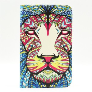For T230 Case、[A lion face][Slim Fit] Folio Leather Stand [Wallet] Shell Cover with Card Holder...