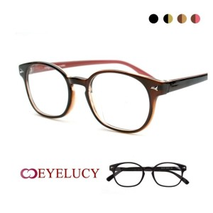 DS015 metal point round standard Full - Rimmed Glasses eye Lucy Fashion