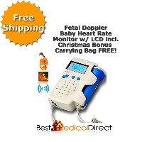 Fetal Doppler Baby Heart Rate Monitor with LCD (Angelsounds Pro)