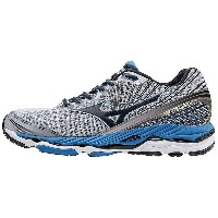 ミズノ メンズ ランニング スポーツ Mizuno Men's Wave Paradox 2 Shoe Alloy / Black / Electric Blue Lemonade
