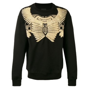 Les Hommes - jewel embroidered sweatshirt - men - コットン/メタリックファイバー - M