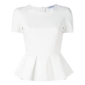 Blumarine - short sleeve peplum top - women - ポリアミド/スパンデックス - 42