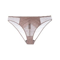 Chantal Thomass - Vison Plumetis thong - women - ポリアミド/スパンデックス - M