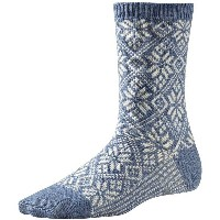 スマートウール メンズ 靴下 アンダーウェア SmartWool Traditional Snowflake Sock Blue Steel Heather