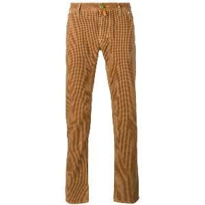 Jacob Cohen - checked slim-fit trousers - men - コットン/スパンデックス - 40
