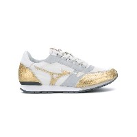 Mizuno - panelled sneakers - women - レザー/rubber - 37