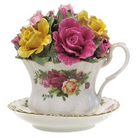 Royal Albert Old Country Rose Musical Teacup by Royal Albert