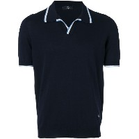 Fay - contrast trim polo shirt - men - コットン - 46