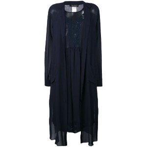 Twin-Set - sheer shirt dress - women - ビスコース - 38