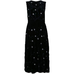 Jupe By Jackie - embroidered sleeveless dress - women - シルクベルベット - S