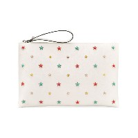 Red Valentino - star detail clutch - women - レザー - ワンサイズ