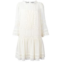 Red Valentino - crochet lace detail dress - women - シルク/コットン/ポリエステル - 40