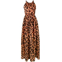Blugirl - long leopard print dress - women - シルク/コットン - 42