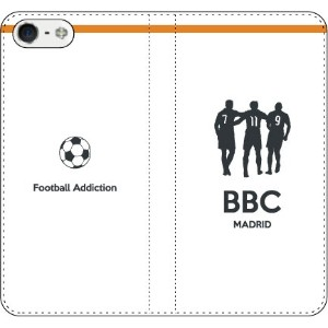 iPhone/Xperia/Galaxy/Android選択可:サッカーシルエット手帳ケース(ホーム/マドリード_BBC_A) iPhone6/6s用