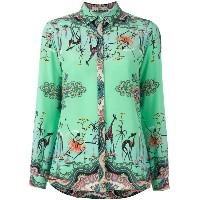Etro - printed blouse - women - シルク - 44