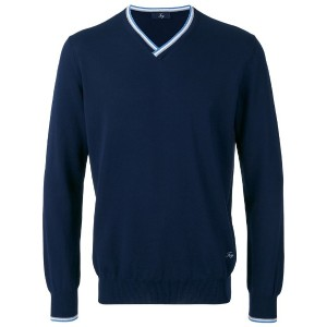 Fay - v-neck jumper - men - コットン - 54