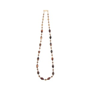 【Theory】Kong qi Brown Stone Necklace 六角形のストーンをシンメトリーに配したロングネックレス。 その他 大人 セオリー