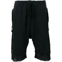 Cedric Jacquemyn - decoup jogger shorts - men - コットン/ポリエステル - 48