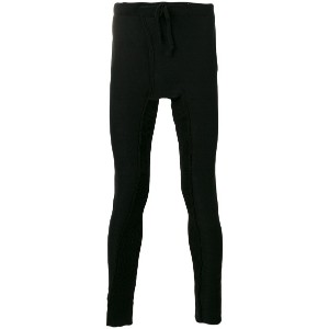 Cedric Jacquemyn - long rib decoup leggings - men - コットン - 50