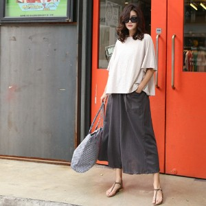 [zoozoom] Wide baggy cotton pants 3color / 20258