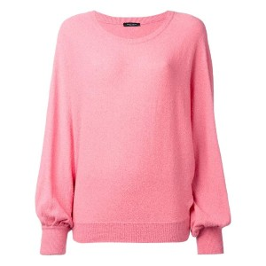 Roberto Collina - billowing sleeve jumper - women - コットン/ポリアミド - M