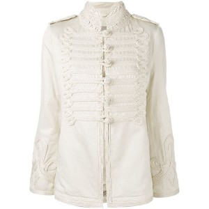 Ermanno Scervino - tonal military jacket - women - コットン/リネン/ビスコース - 42