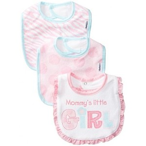 USA Gerber Baby-Girls Newborn 3 Pack Girl Terry Dribbler Bib, Pink, One Size (送料無料)
