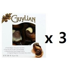 Guylian Chocolates Seashells 65g x 3set Made in Belgium [並行輸入品]