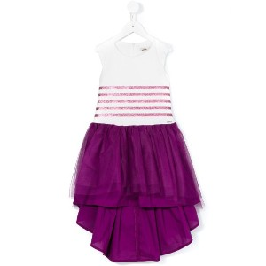 Jean Paul Gaultier - glitter round stripe tutu dress - kids - コットン/ポリアミド - 4歳