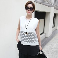 [zoozoom] Dot gauze sleeveless blouse 2color / 22860