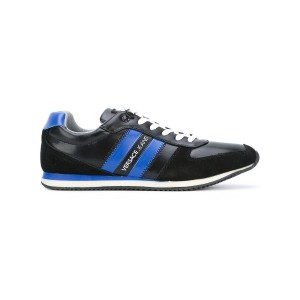 Versace Jeans - stripeed laterals sneakers - men - レザー/rubber - 44