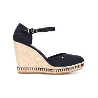 Tommy Hilfiger - buckled wedge sandals - women - コットン/rubber - 39