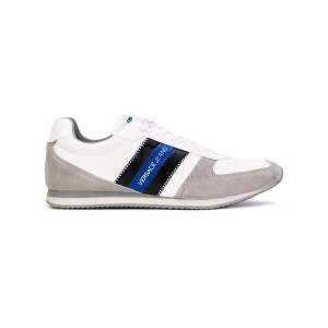 Versace Jeans - stripeed laterals sneakers - men - コットン/スエード/Synthetic Resin/rubber - 41