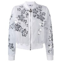 Gcds - floral sequin bomber jacket - women - ポリエステル - S