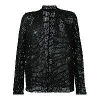 Salvatore Santoro - embroidered jacket - women - レザー - 40