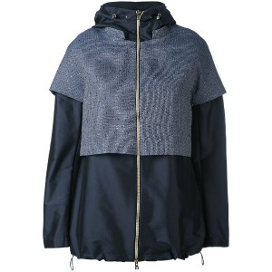 Herno - layered hooded jacket - women - ポリエステル - 42