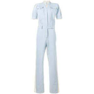 Rosie Assoulin - short sleeve denim jumpsuit - women - コットン - 6