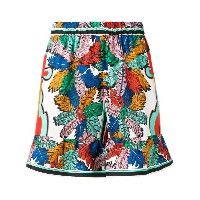 Emilio Pucci - elasticated waistband printed shorts - women - シルク - 40