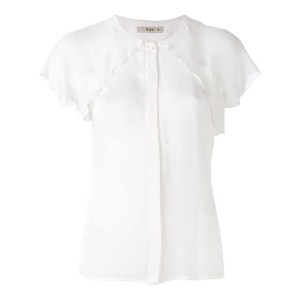Etro - ruffled trim shirt - women - シルク - 44